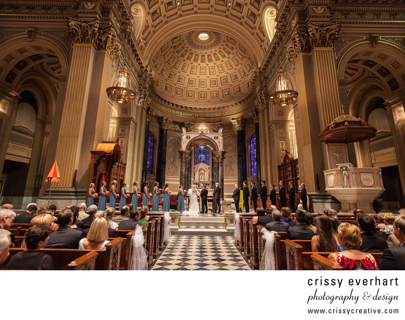 Wedding at Basilica of Saints Peter and Paul in Philly