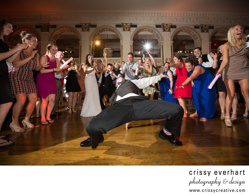 Groom's Wild Dance Moves at The Ballroom at the Ben