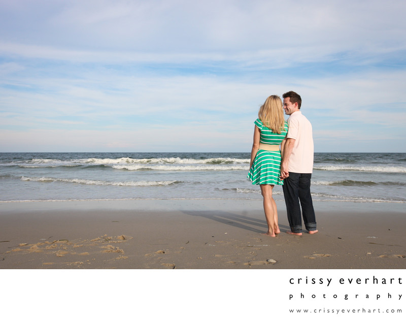 Beach engagement portraits in New Jersey