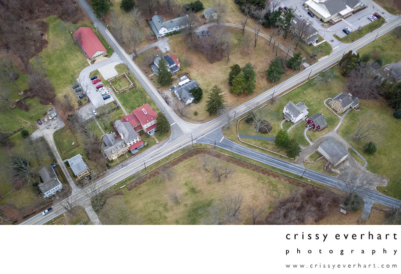 Aerial view of Sugartown, Boot and Spring Roads