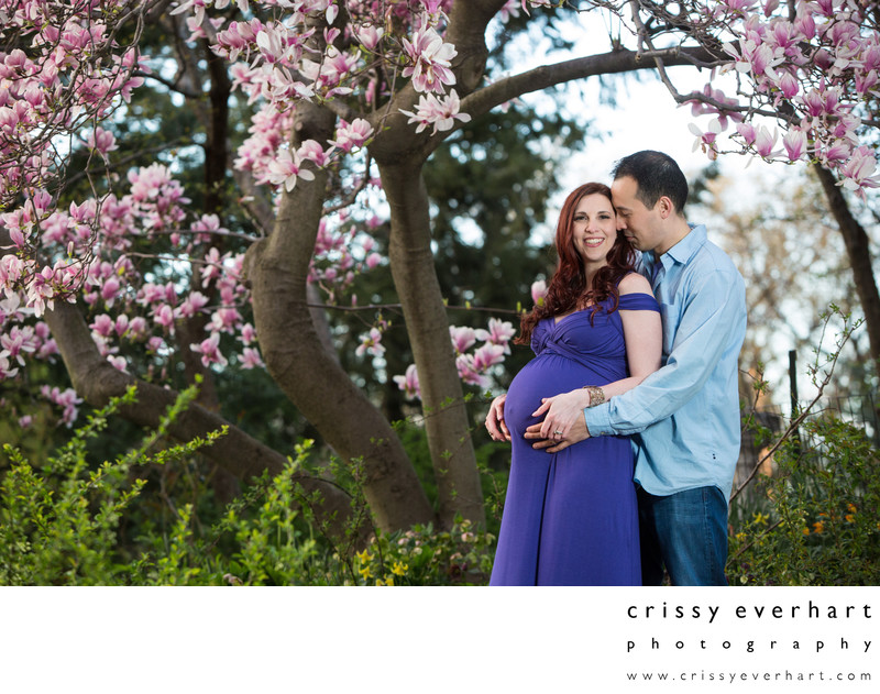 Spring Flowers Maternity Session in Central Park