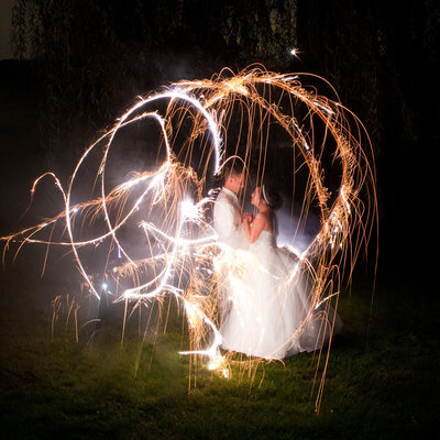 Sparkler Long Exposure Photo- Best Wedding Photography