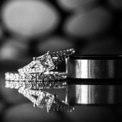 New Jersey Wedding Photographer - Rings with Reflection