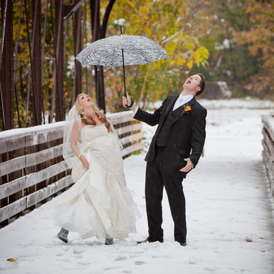 Phoenixville Foundry Snowy Fall Wedding
