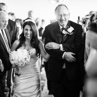 Down Town Club Philadelphia - Bride Father Aisle Walk
