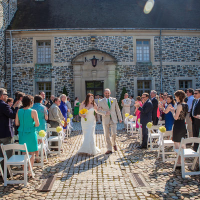 Oberod Estate in Delaware Summer Wedding Ceremony