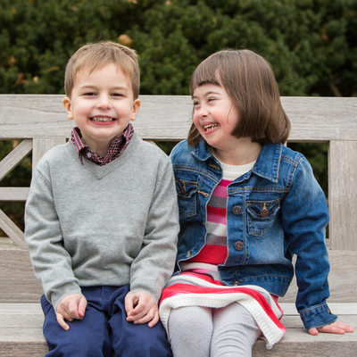 Sibling Love at Longwood Gardens in Kennett Square, PA