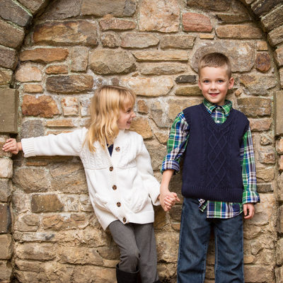 Natural children's portraits at Ridley Creek State Park