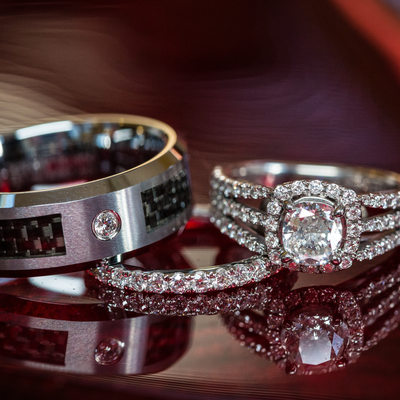 West Chester Wedding Photographer Ring Shot Diamonds