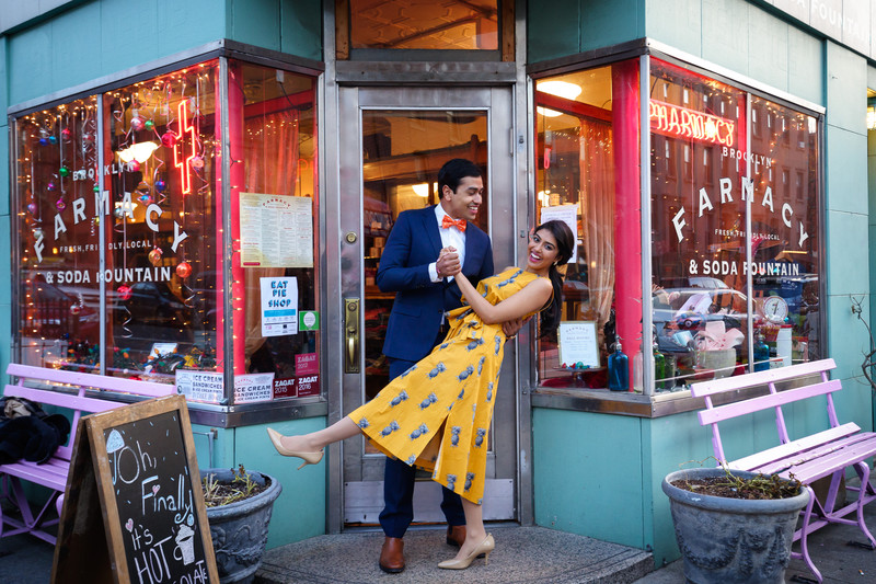 Brooklyn Farmacy & Soda Fountain Engagement Pics