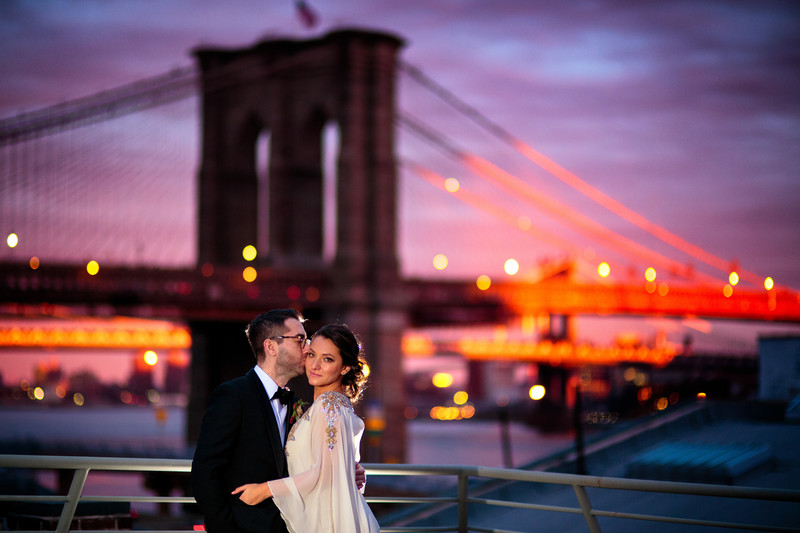 Brooklyn Bridge Wedding Photo | Downtown Wedding