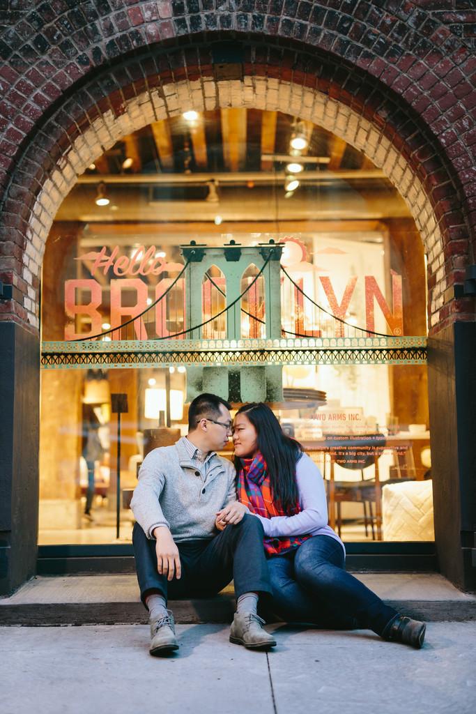 Romantic Brooklyn Engagement Shoot