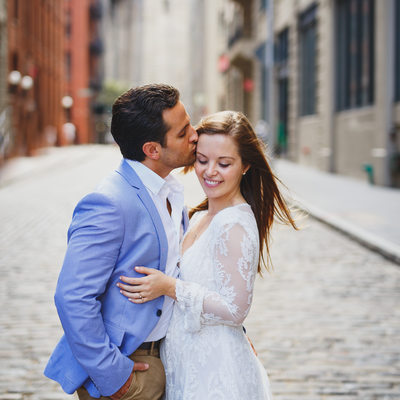 DUMBO Cobblestone Street Engagement Session