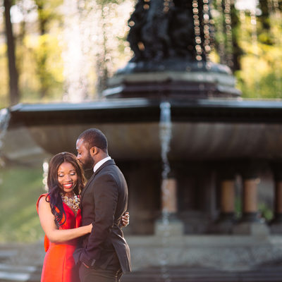 Beautiful Central Park Engagement