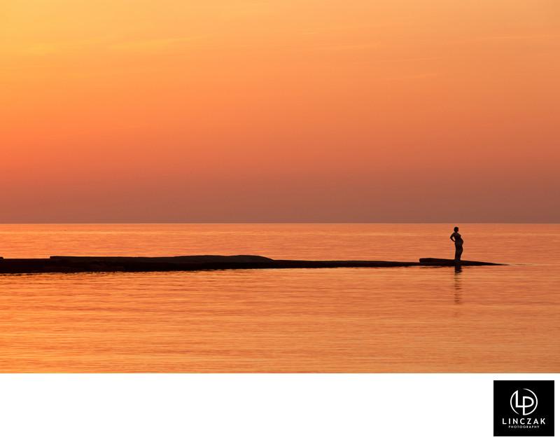 water portrait silhouette