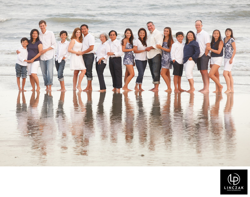 family photo beach setting