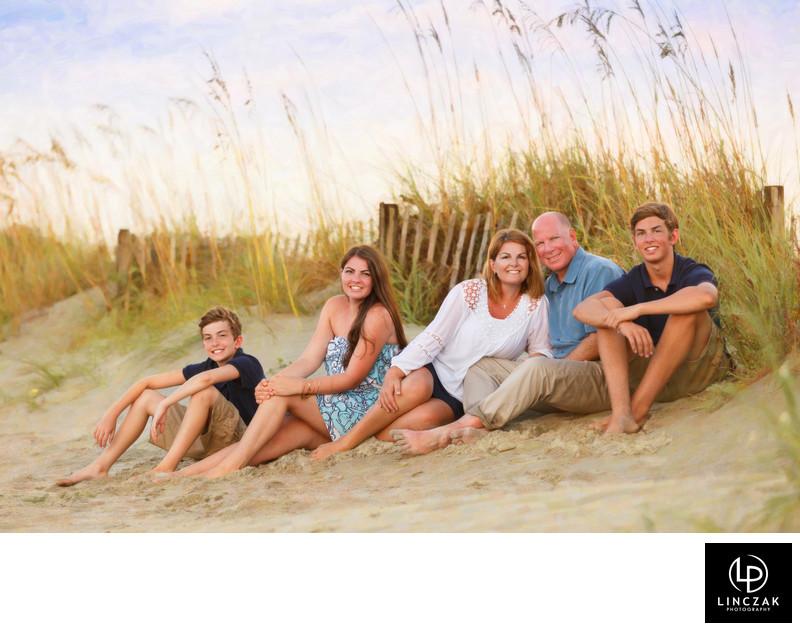 natural lighting family portrait