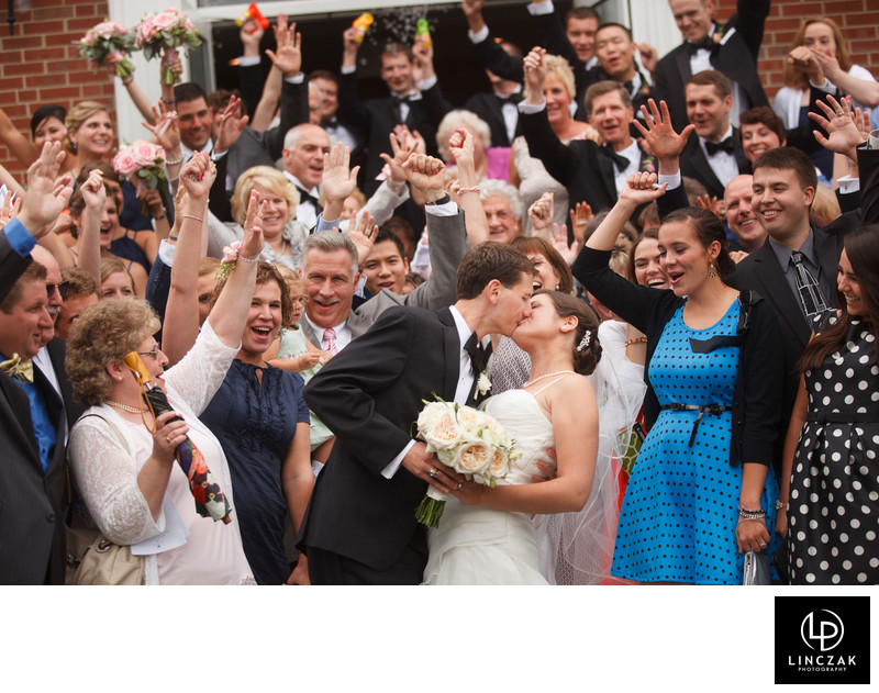 wedding group fun photo