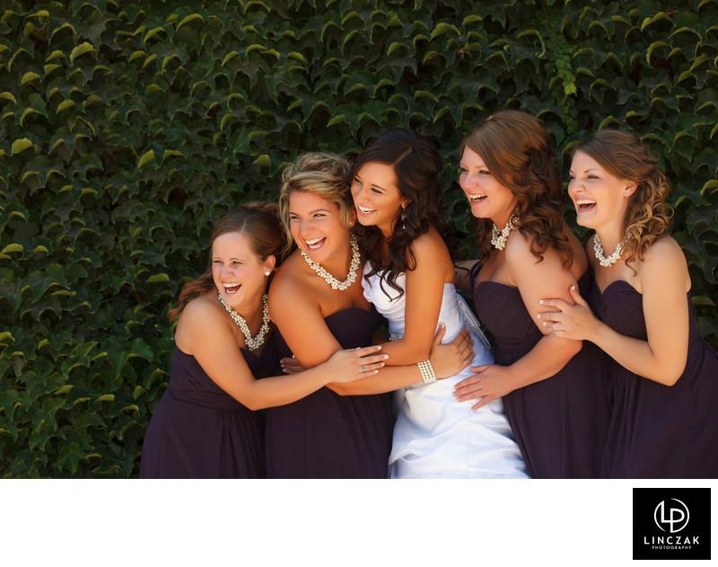 laughing bridesmaids photos