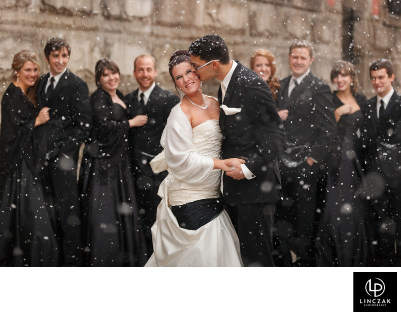 winter cleveland wedding photos
