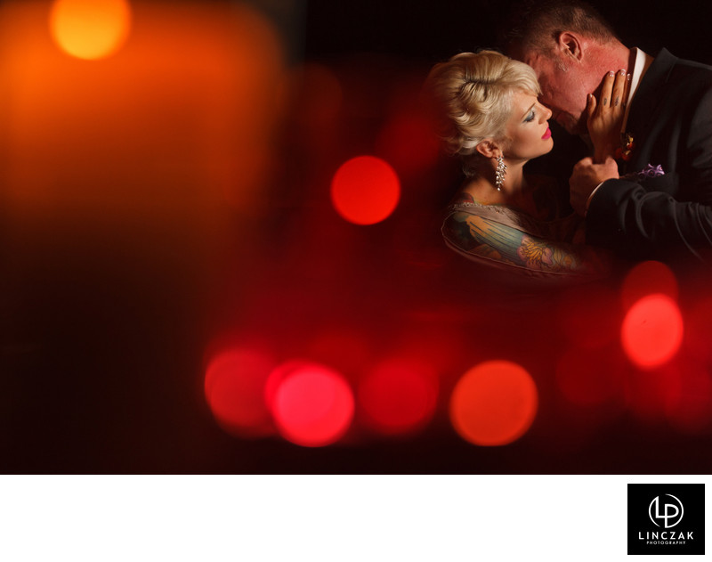 candlelit cleveland wedding photos
