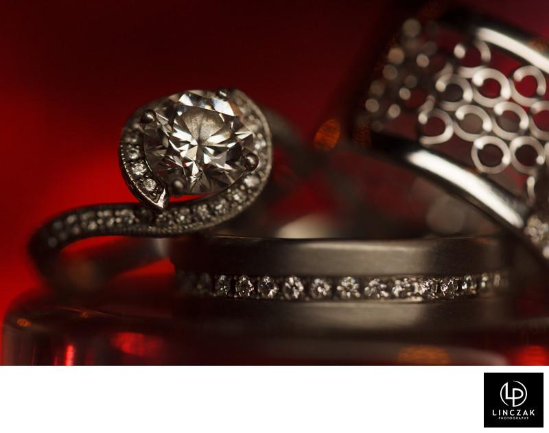 cool wedding ring shots