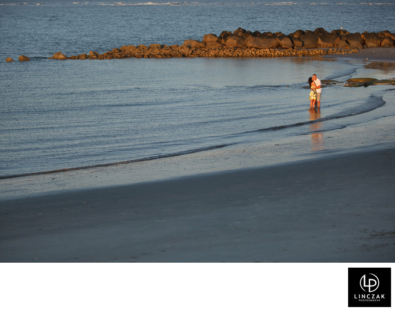 beach engagement photo session