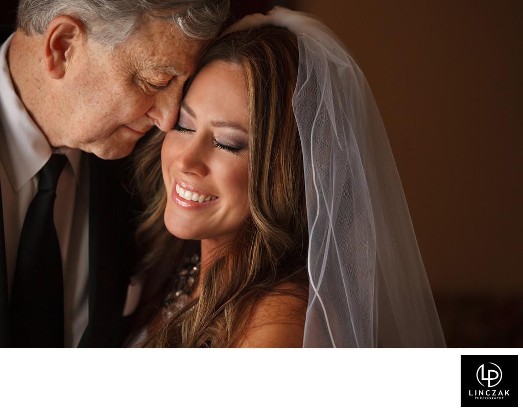 dad and bride wedding photo