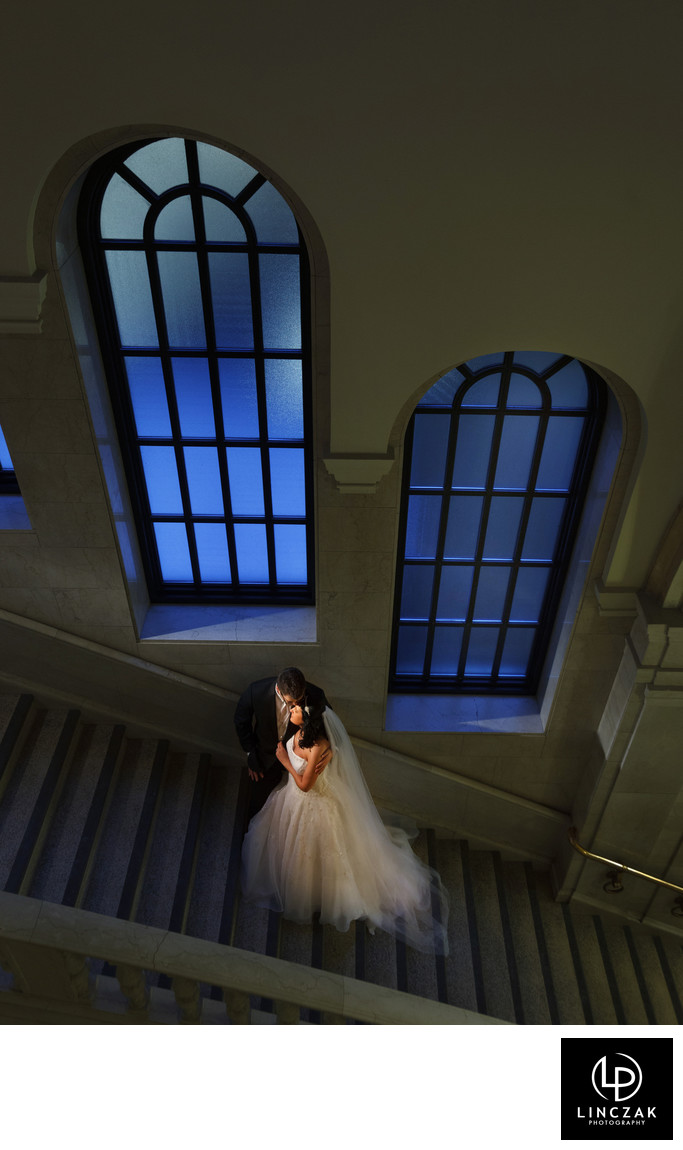 cleveland library wedding photos