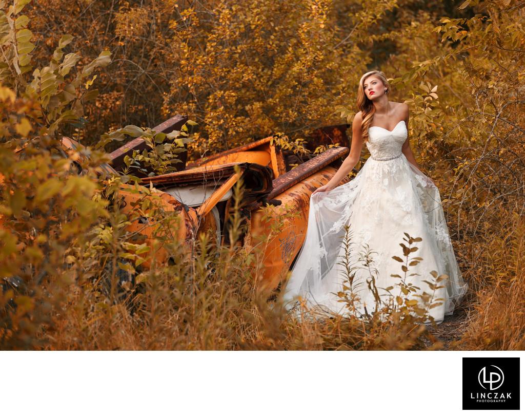 fashion inspired bridal photos