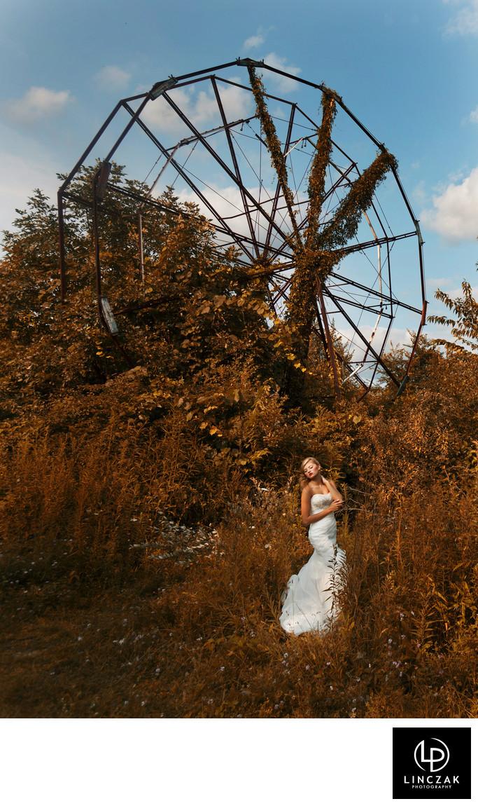 amusement park cleveland wedding