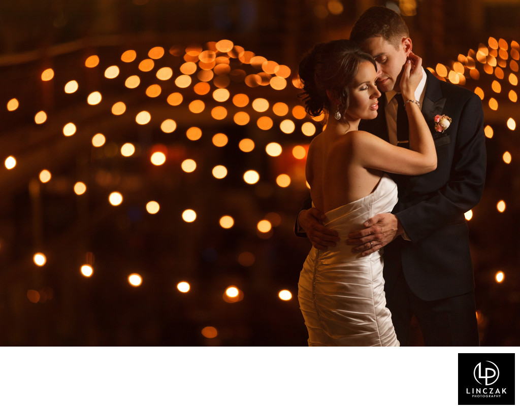 nighttime weddings photos in cleveland