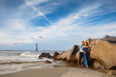 cleveland beach engagement photo