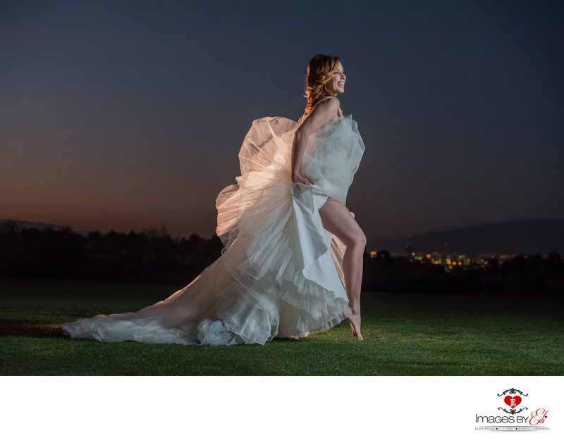 Anthem Country Club Uniquely lit bridal wedding portrait
