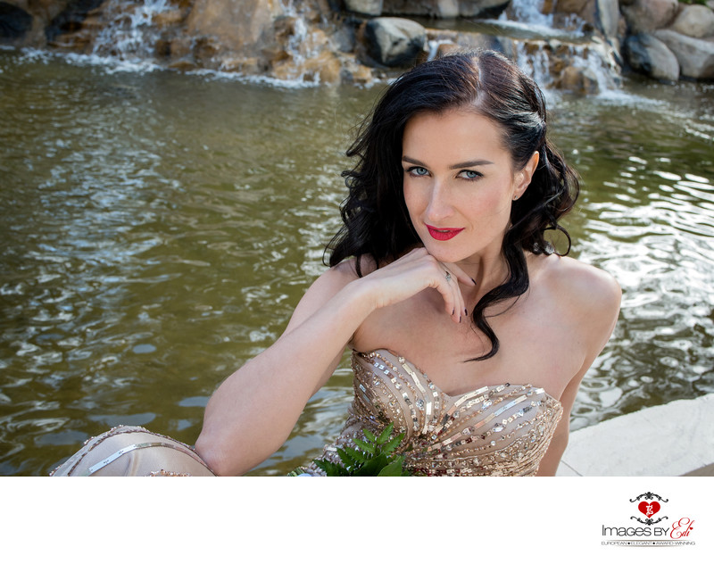 JW Marriott Las Vegas Wedding photographer, Bride with beautiful eyes