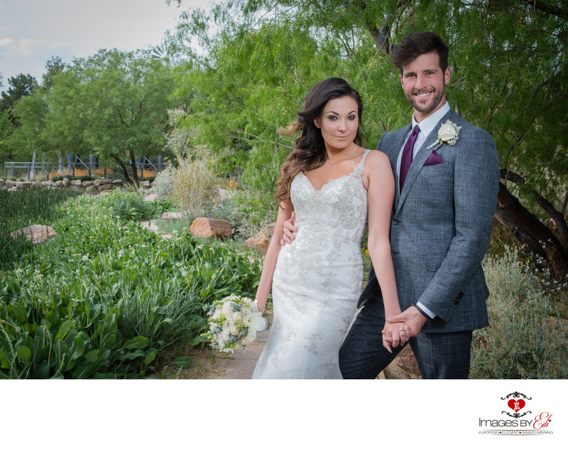 Portrait of Bride and groom at Springs Preserve