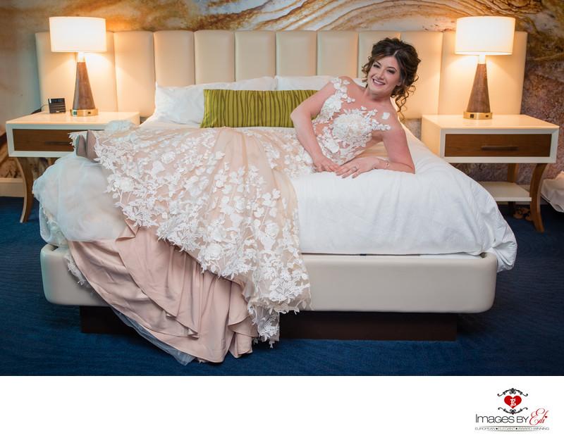 Mandalay Bay Las Vegas bride before her ceremony