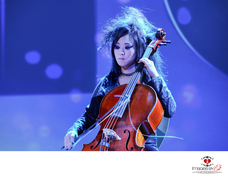 Las Vegas corporate event photography with cellist