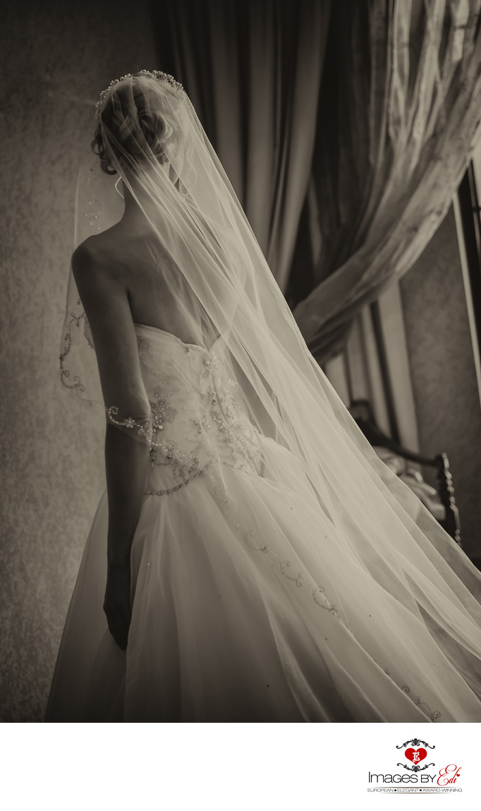 Bride gets ready at Westin Lake Las Vegas before wedding