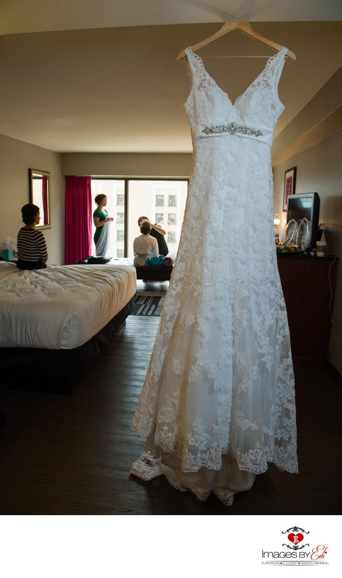 Bride gets ready at Flamingo hotel before Cili Bali Hai wedding