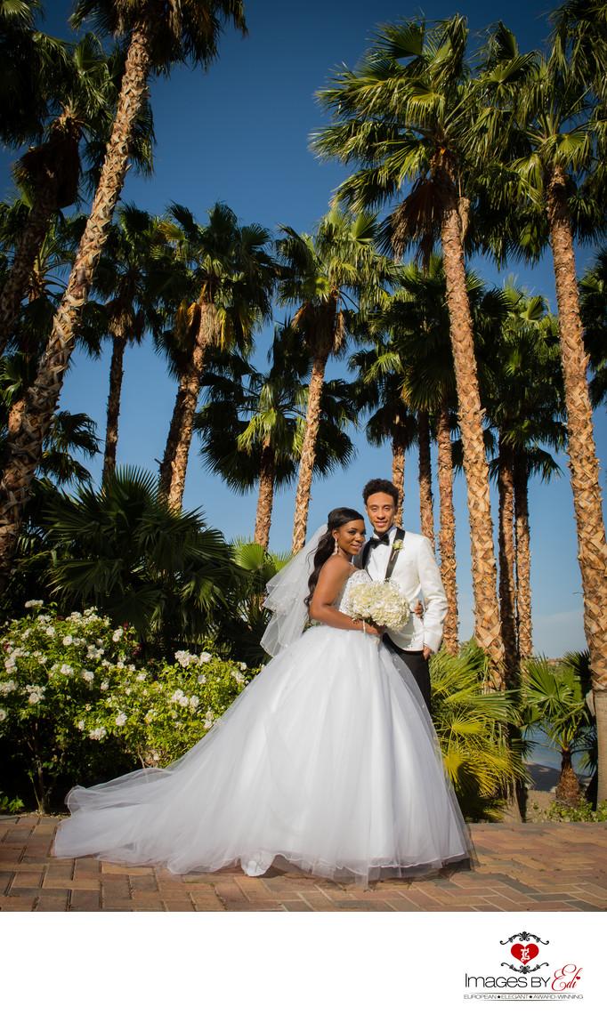 Reflection Bay Golf Course Wedding Couple