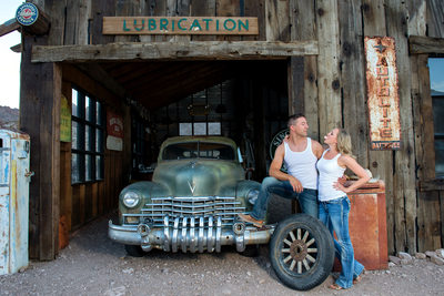 Nelson ghost town Las Vegas Fun Engagement Photography