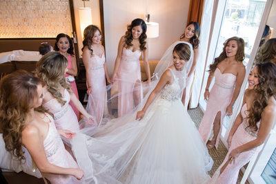 Bridesmaids at Mandarin Oriental Las Vegas Wedding
