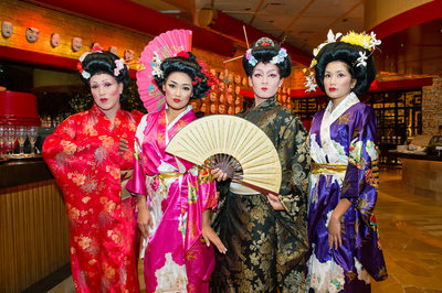 Wynn Las Vegas corporate event photography with geishas