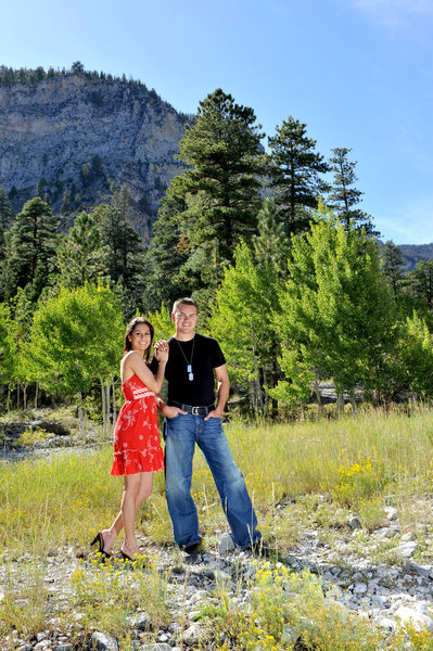 Mt Charleston  Engagement Photography in the summer