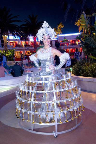 Champagne Dress Girl at Encore Las Vegas corporate event
