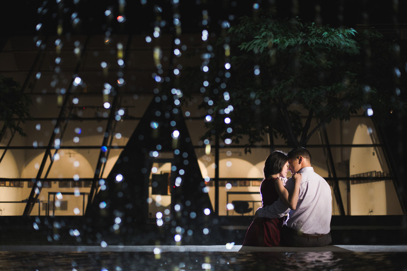 Waterfall Building Engagement Photos