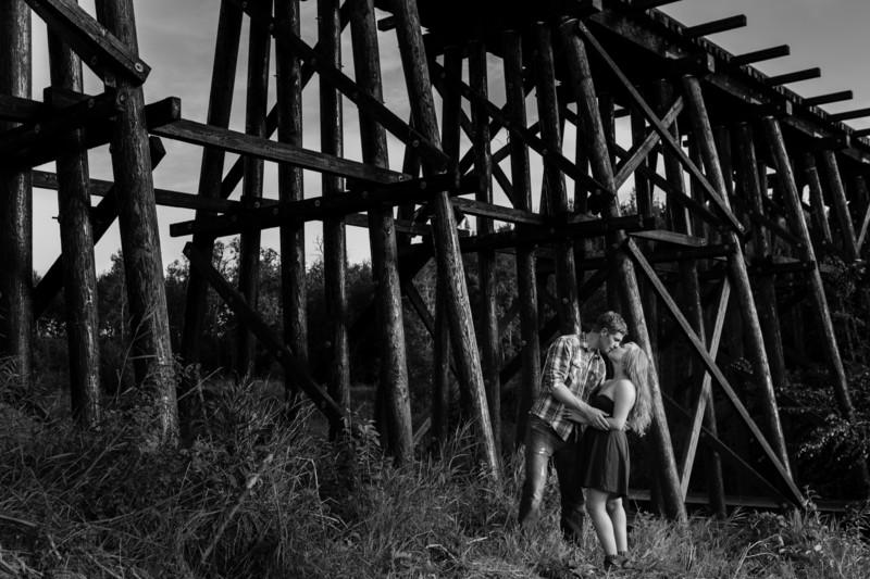 Train Bridge Edmonton Wedding Photographer