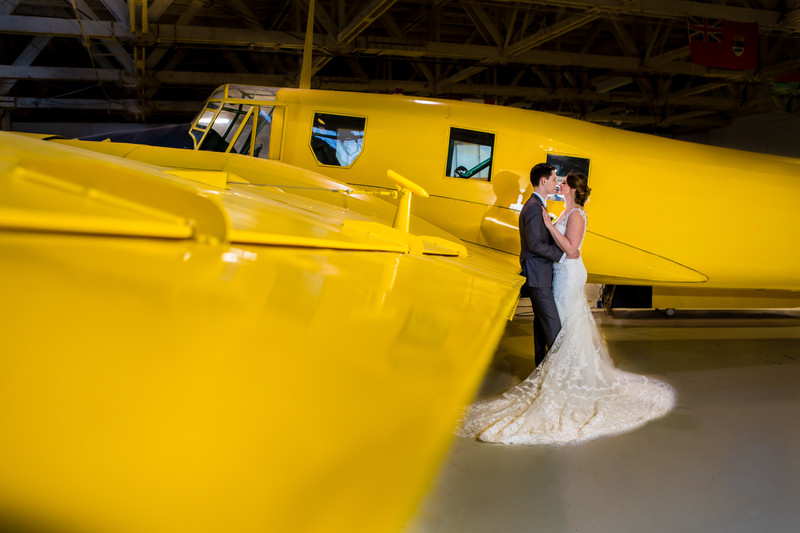 Alberta Aviation Museum Wedding Photography Edmonton