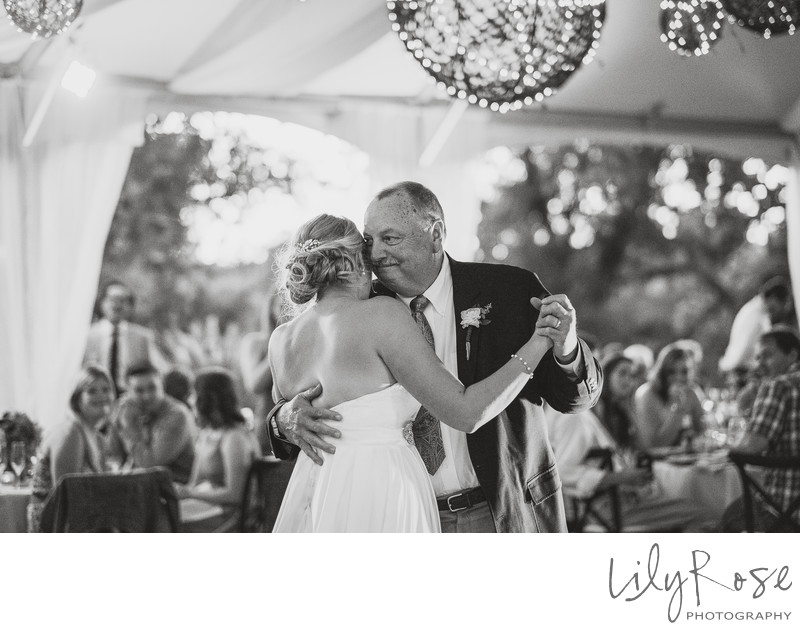 Napa Wedding Father Daughter Dance